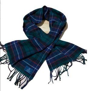 Clans Scotland 100% pure new wool plaid Scarf